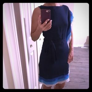 Venice Camuto Blue and White dress size 2